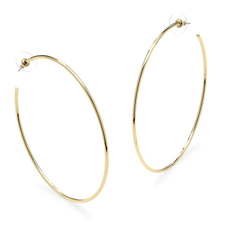 Hoop Earrings in 18k Gold-Plated with Surgical Steel Posts 3.75