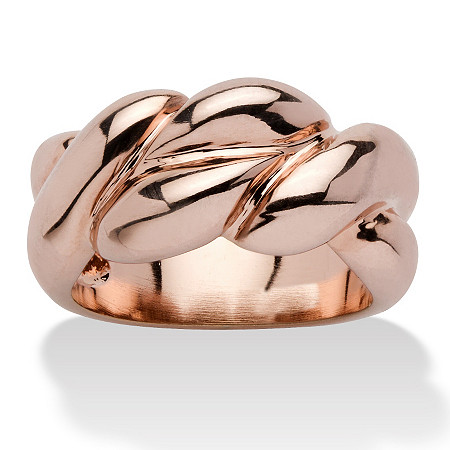 Braided Ring in Rose Gold-Plated at PalmBeach Jewelry