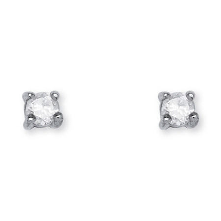 1/10 TCW Diamond Stud Earrings in Sterling Silver at PalmBeach Jewelry