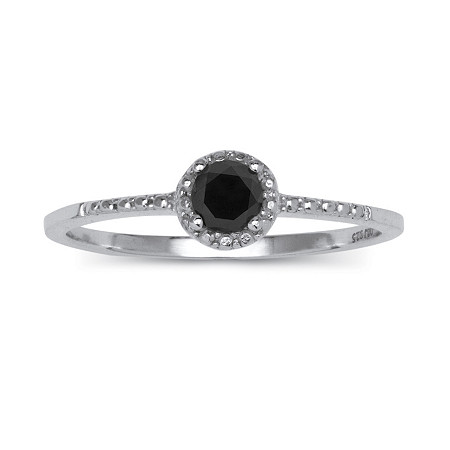 1/5 TCW Black Diamond Ring in Sterling Silver at PalmBeach Jewelry