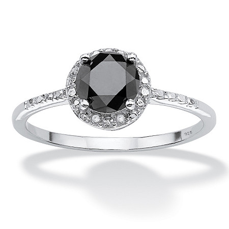 1 TCW Black Diamond Ring in Sterling Silver at PalmBeach Jewelry