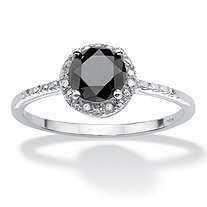 SETA JEWELRY 1 TCW Black Diamond Ring in Sterling Silver