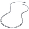 Related Item 9.56 TCW Round Cubic Zirconia Eternity Necklace Platinum Plated 18