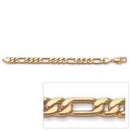 Men's Figaro-Link Bracelet in Yellow Gold Tone 10