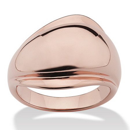 Freeform Ring Rose Gold Ion-Plated at PalmBeach Jewelry