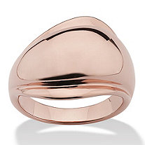Freeform Ring Rose Gold Ion-Plated