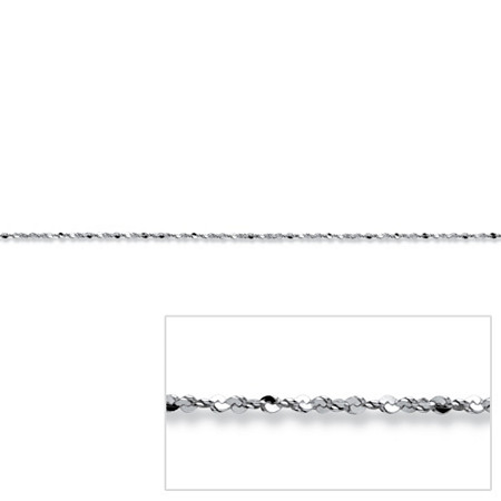 Diamond-Cut Serpentine-Link Chain Necklace in Sterling Silver 20