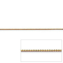 "Venetian Box-Link Chain Necklace in 14k Yellow Gold 18"" (.5mm)"