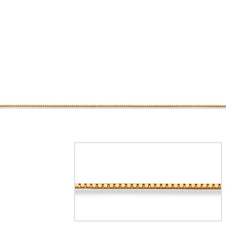Venetian Box-Link Chain Necklace in 14k Yellow Gold 24