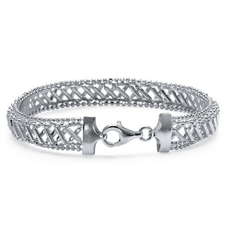 Woven Mesh Bracelet in Sterling Silver at PalmBeach Jewelry