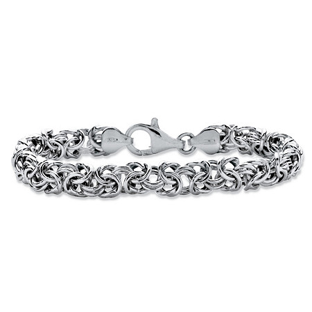 "Byzantine Bracelet in Sterling Silver 8"" (8mm) at PalmBeach Jewelry"
