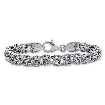 "Byzantine Bracelet in Sterling Silver 8"" (8mm)"