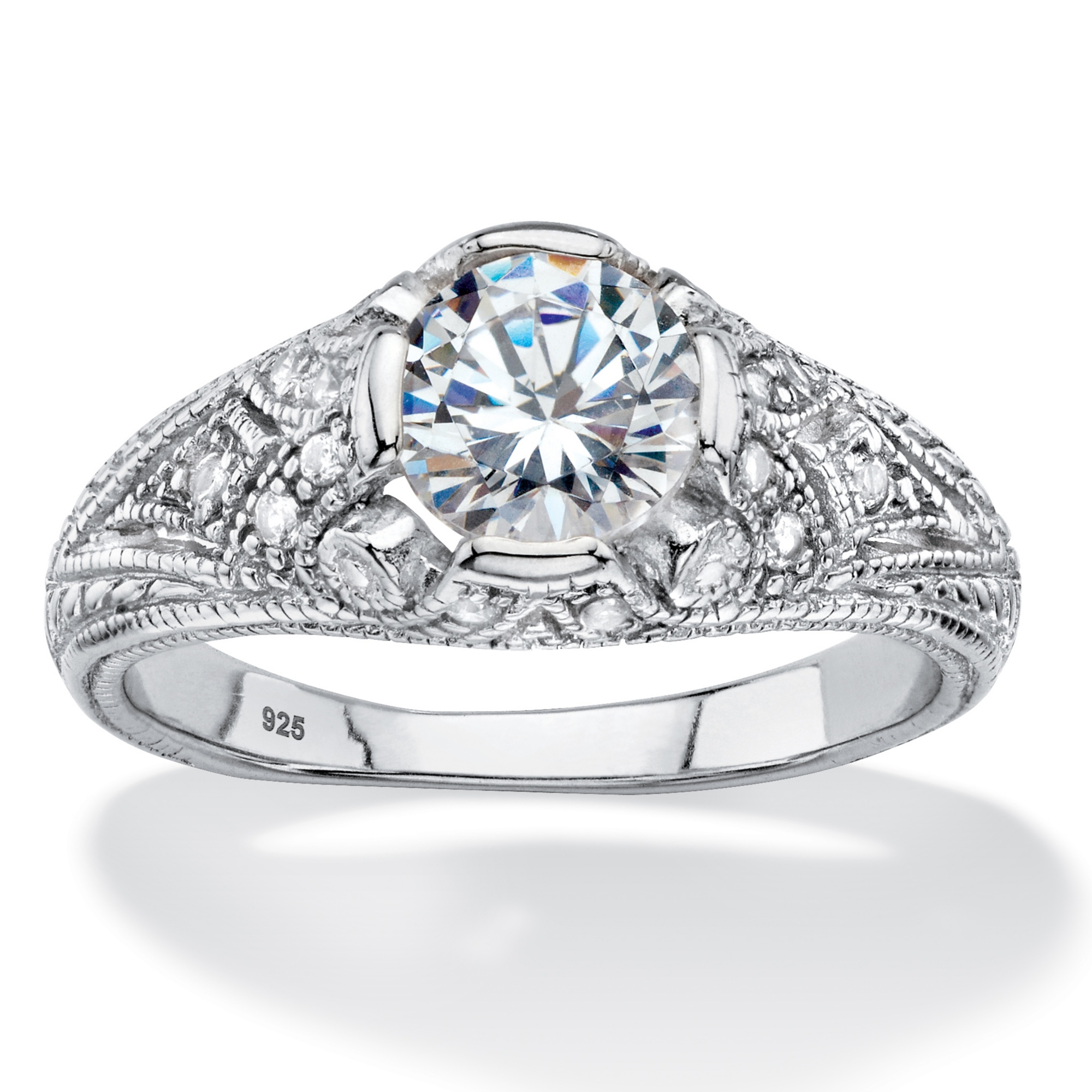 175 Tcw Round Cubic Zirconia Vintage Style Ring In. Gunmetal Rings. Lot Small Diamond Engagement Rings. Ravi Name Engagement Rings. Moon Rock Wedding Rings. Catholic Rings. Wife Bill Gates Engagement Rings. Nidhi Rings. 2.6 Carat Wedding Rings