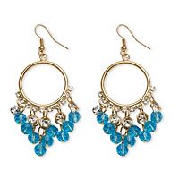 Birthstone Chandelier Earrings With Crystal Accents ONLY $6.99