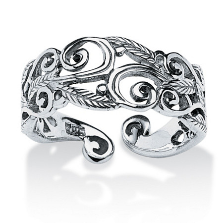 Ornate Scroll Ring in Sterling Silver at PalmBeach Jewelry