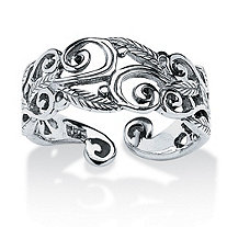 SETA JEWELRY Ornate Scroll Ring in Sterling Silver