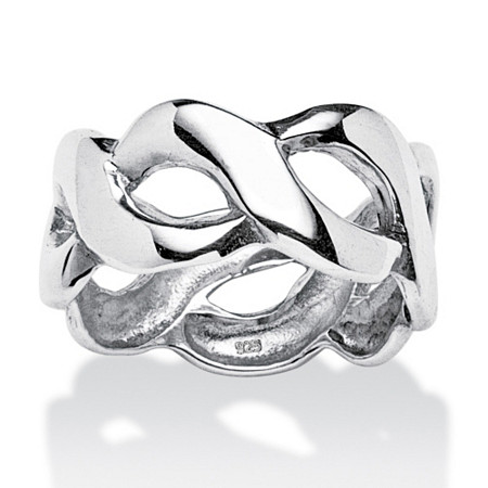 Crossover Link Style Ring in Sterling Silver at PalmBeach Jewelry