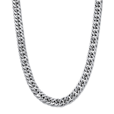 Men's Curb-Link Chain in Stainless Steel 24
