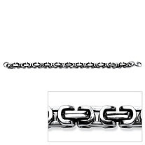 Men's Interlocking Link Bracelet in Stainless Steel 9