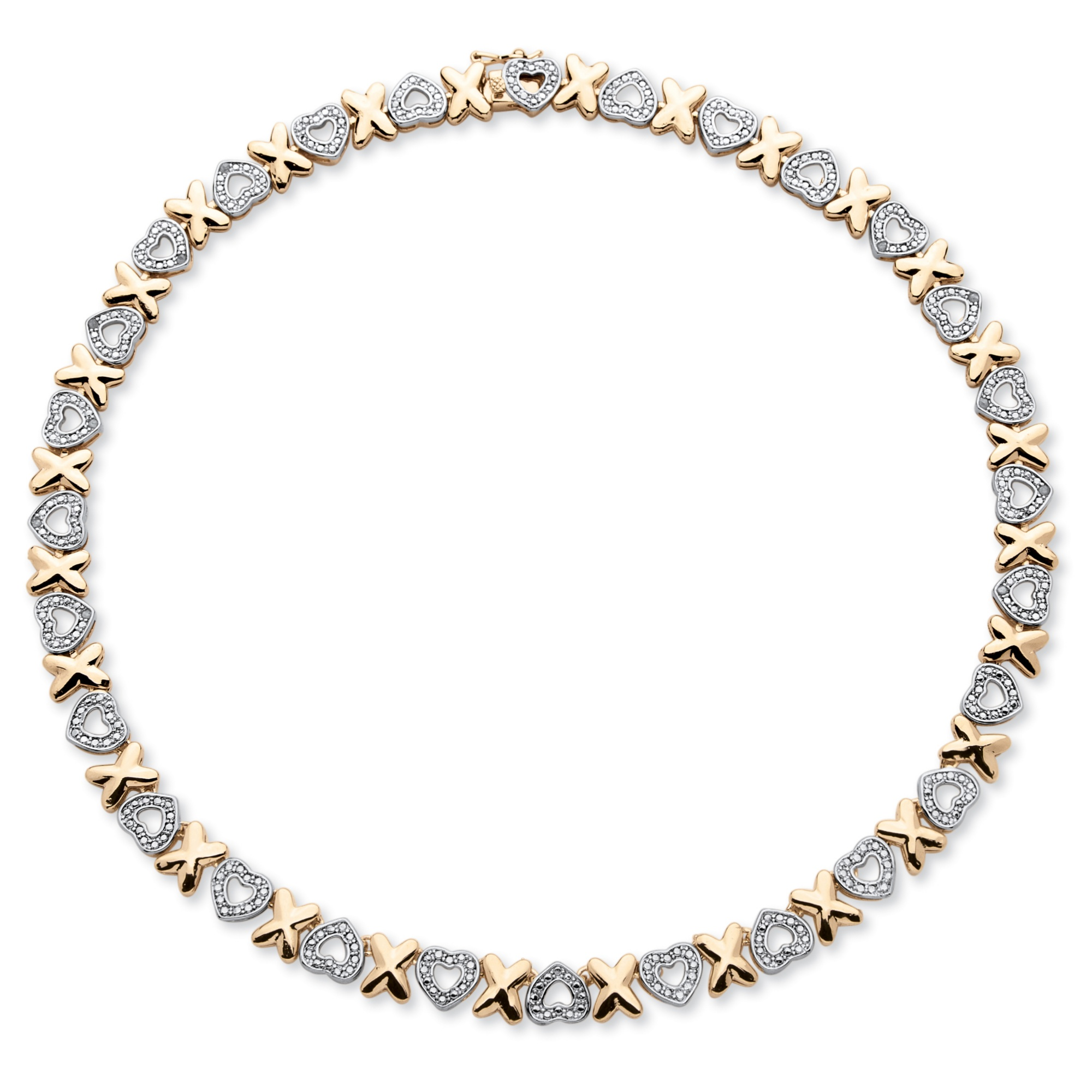 Hearts And Kisses Bracelet: Diamond Accent Hearts And Kisses Necklace In 18k Gold