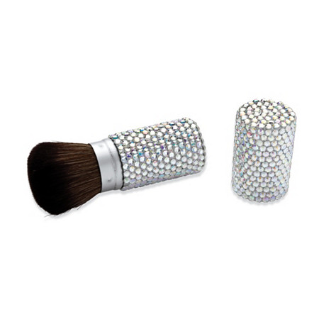Aurora Borealis Crystal Encrusted Retractable Make-Up Brush at PalmBeach Jewelry