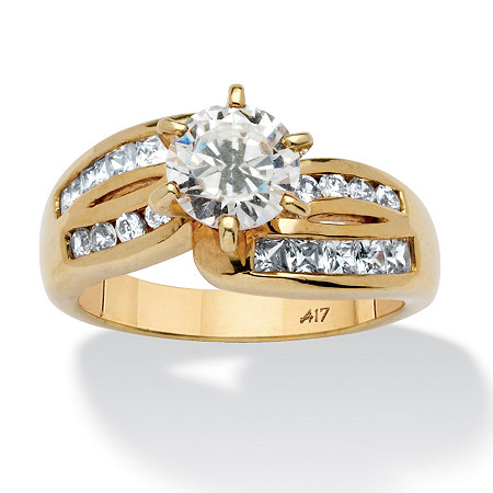 2 TCW Round Cubic Zirconia Ring in 10k Gold at PalmBeach Jewelry