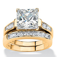 Two-Piece Princess-Cut Cubic Zirconia Bridal Set 14k Gold Over Sterling Silver ONLY $82.46