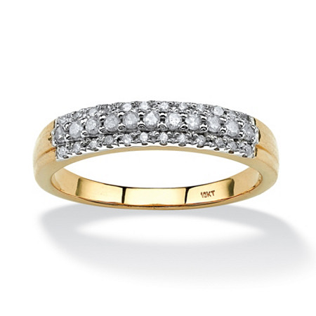 1/4 TCW Round Diamond Ring in 10k Gold at PalmBeach Jewelry