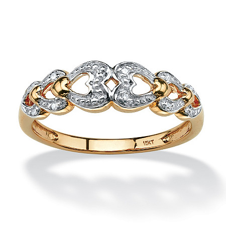 Diamond Accent Heart Ring in 10k Gold at PalmBeach Jewelry