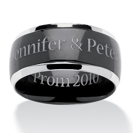 Personalized ring in Black Ion-Plated Stainless Steel at PalmBeach Jewelry