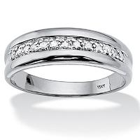 Men's Round Diamond Ring In 10k White Gold ONLY $149.99