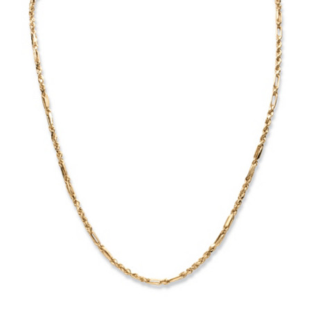 "Diamond-Cut Rope Chain Necklace in 10k Yellow Gold 22"" (3mm) at PalmBeach Jewelry"