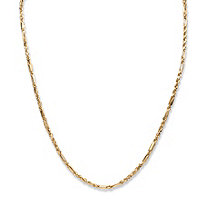 SETA JEWELRY Diamond-Cut Rope Chain Necklace in 10k Yellow Gold 22