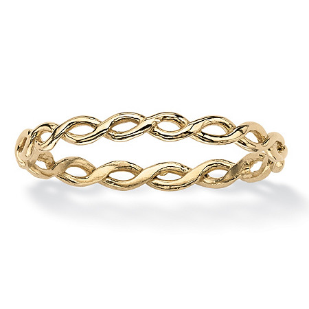 Braided Twist Ring in 10k Yellow Gold at PalmBeach Jewelry