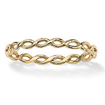 SETA JEWELRY Braided Twist Ring in 10k Yellow Gold