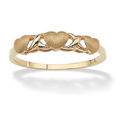 10k Yellow Gold Hearts and Kisses Ring at PalmBeach Jewelry
