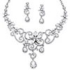 Related Item Swirl and Flower Crystal Necklace and Earrings Two-Piece Set in Platinum-Plated