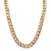 "Men's Curb-Link Chain Necklace in Gold Tone 30"" (15mm)"