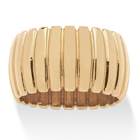 Tailored Dome Section Band Gold Ion-Plated at PalmBeach Jewelry