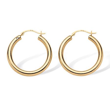 14k Yellow Gold Earrings Nano Diamond Resin Filled at PalmBeach Jewelry