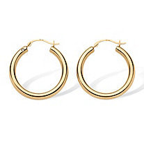 SETA JEWELRY 14k Yellow Gold Earrings Nano Diamond Resin Filled