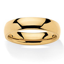 Men's Comfort Fit 5 mm Wedding Band in Gold Ion-Plated Stainless Steel