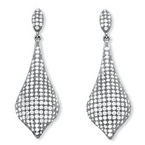 4.75 TCW Micro-Pave Cubic Zirconia Drop Earrings in .925 Sterling Silver