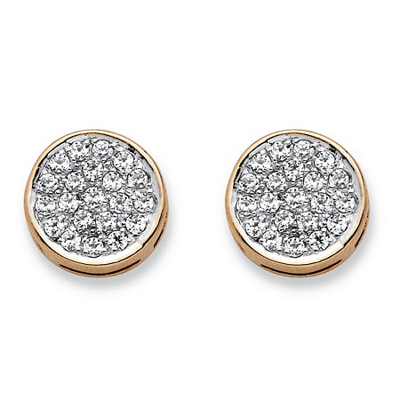 1/4 TCW Diamond Cluster Stud Earrings in Solid 10k Yellow Gold at PalmBeach Jewelry