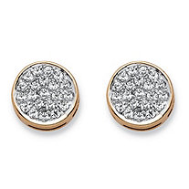 1/4 TCW Diamond Cluster Stud Earrings in Solid 10k Yellow Gold