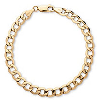 "Men's Curb-Link Chain Bracelet in 10k Yellow Gold 8"" (6.5mm)"