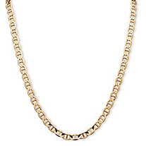 "Men's Mariner-Link Chain Necklace in 14k Yellow Gold over Sterling Silver 20"" (6mm)"