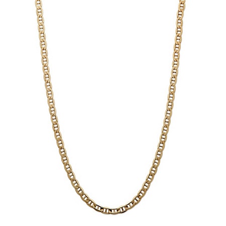 "Men's Mariner-Link Chain Necklace in 14k Yellow Gold 20"" (3.5mm) at PalmBeach Jewelry"