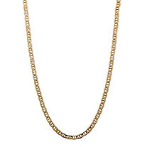 "Men's Mariner-Link Chain Necklace in 14k Yellow Gold 20"" (3.5mm)"