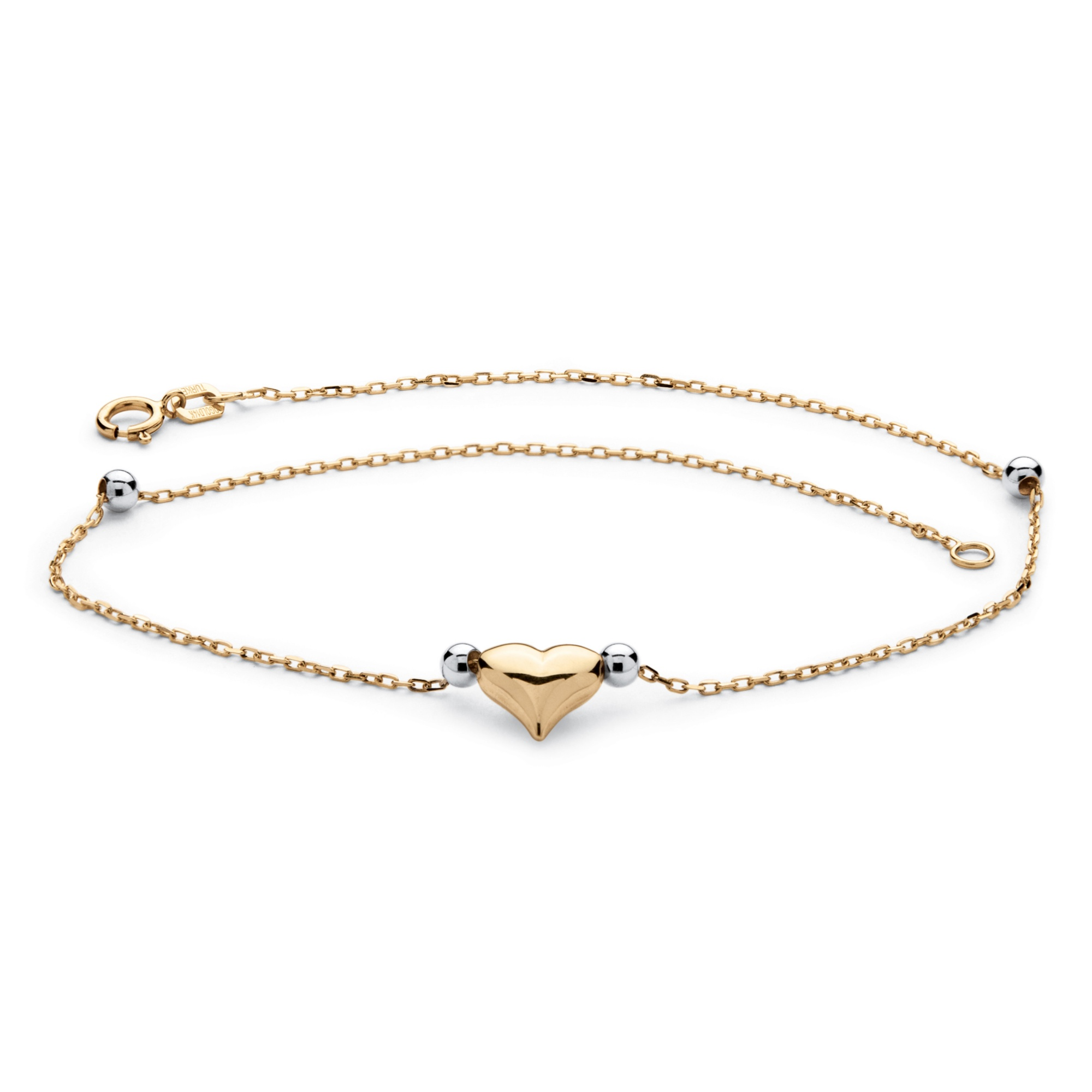 chain anklet ankle by gold product jewels elle bracelet heart karat diamond